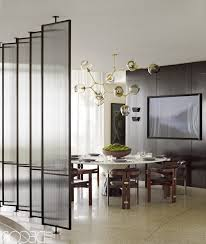 contemporary dining room grey elegant formal table decoration