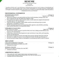 Restaurant Head Waiter Resume Sample Restaurant Server Resume