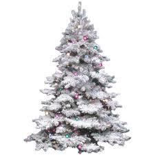 the holiday aisle flocked alaskan 4 5 white artificial christmas