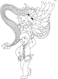 Welcoming The Chinese New Year By Bringing Toys Dragon Coloring Pages
