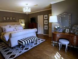 Bedroom Master Bedroom With Gray Interior Wall Also Tufted Queen