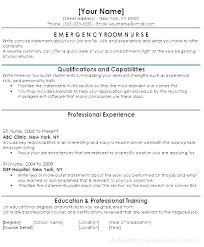Examples Of Registered Nurse Resumes Resume Samples Experienced Nursing Emergency Er