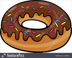Baked Goods Cartoon Illustration of Sweet Donut Cake with Chocolate Clip Art
