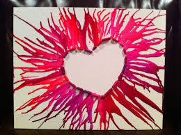 DIY Wall Art Melted Crayon On Canvas