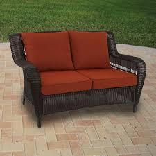 madaga wicker love seat replacement cushion set garden winds