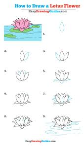 How to draw a lotus flower step by step drawing tutorial