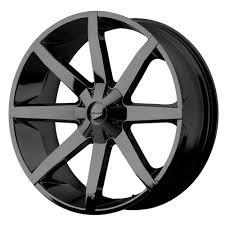 100 Black Rims For Trucks 24 KMC KM651 SLIDE Gloss 24x95 Wheel SET RIMS 24INCH Cars