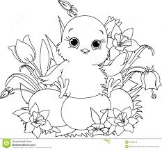Easter Coloring Pages Baby Chicks And Chick