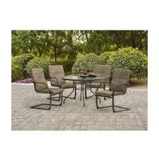 Mainstay Patio Furniture Company by Amazon Com Mainstays Bristol Springs 5 Piece Dining Set Grey