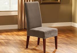 100 Wooden Dining Chair Covers Stretch Pique Short Slipcover SureFit