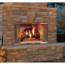 Wood Burning Outdoor Fireplace Home Design