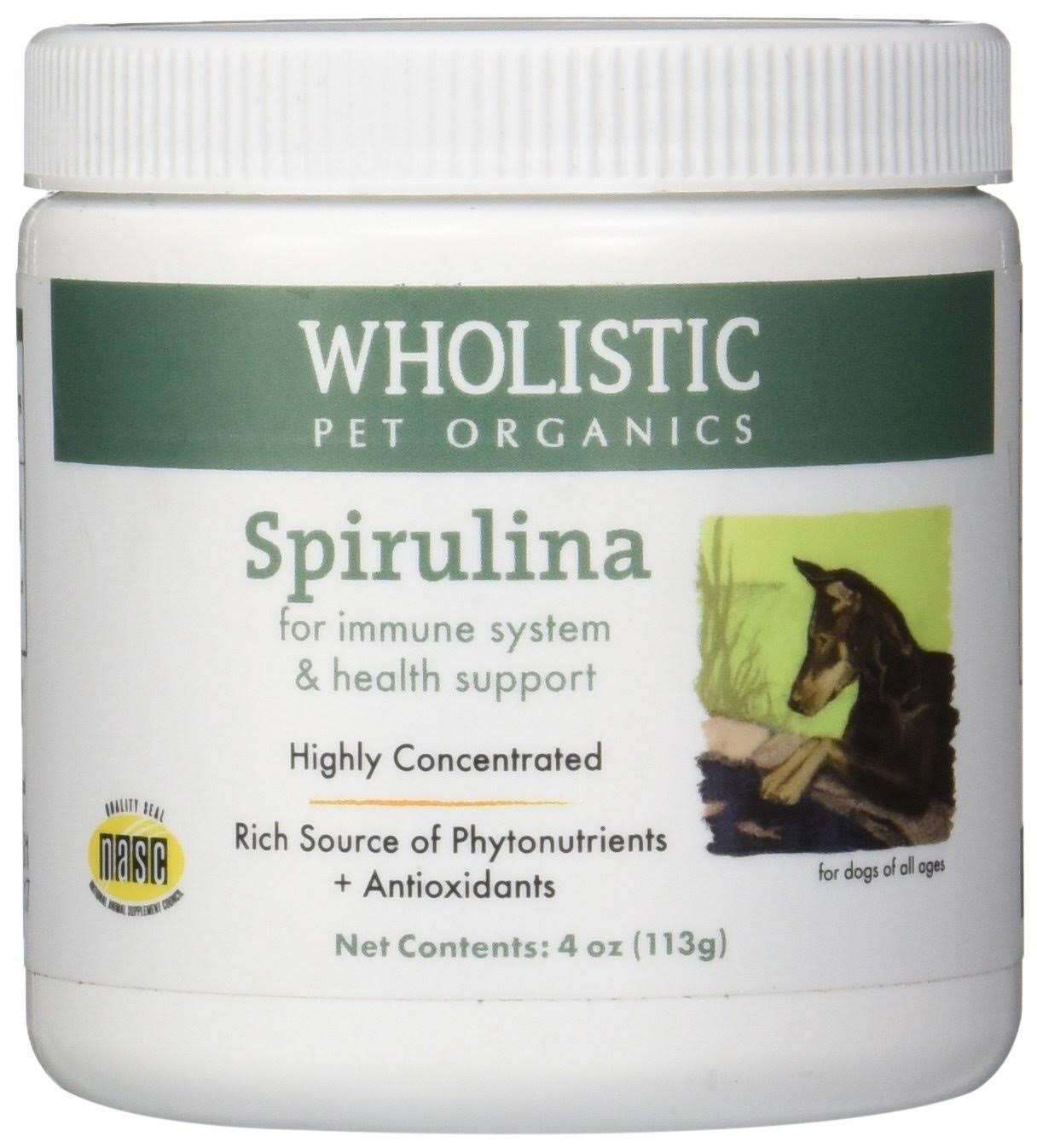 Wholistic Pet Organics Spirulina Dogs Supplement - 4oz