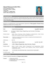 Gallery Profile Title For Fresher Resume