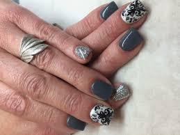 Black Nails Black And Grey Nail Designs Designs Ideas You Need