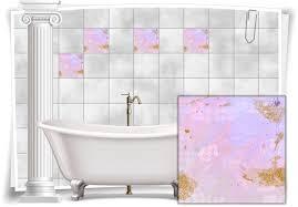 fliesenaufkleber fliesen aufkleber vintage nostalgie retro shabby chic pink violett küche bad wc deko