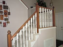 Stair Banisters And Railings Install — John Robinson House Decor ... Outdoor Stair Railing Ideas Staircase Craftsman With Ceiling Best 25 Wood Railings On Pinterest Stairs Rustic Before And After Gel Stained Stair Rail Matsutake Axxys Reflections Oak Glass 12 Step Landing Balustrade Handrail Painted Banister Banister Remodel Bannister Hallway In Door Interior Designs Iron Design Shop Interior Railings Parts At Lowescom
