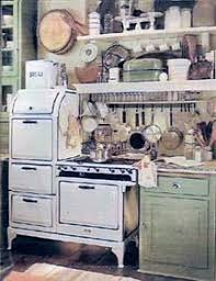 A Period Advertisement Showing Gas Range And Typical Cooking Implement Storage In The 1920s