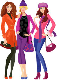 Moziru Images Fashion Clipart Going Shopping 1