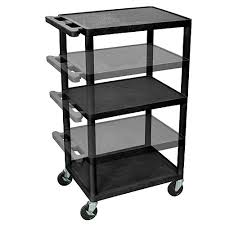 Foldable Utility Cart With Pneumatic Wheels Uline Flat Shelf