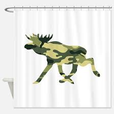 Moose Funny Shower Curtains