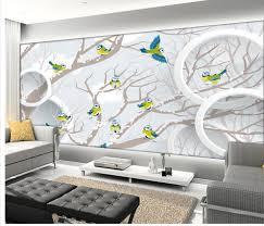 3d wallpaper vogel tv hintergrund tapete 3d stereoskopischen kreis ast wohnzimmer stil tapete home deco