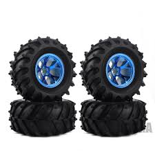 100 Hpi Rc Trucks 4PCS RC Monster Truck Wheel Rim Tires Kit For 110 Traxxas Tamiya