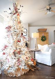 Vintage Flocked Christmas Tree