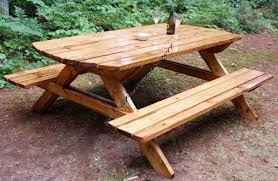 nice shape table wood furniture pinterest picnic tables