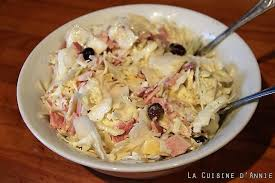 comment cuisiner le choux blanc recette salade de chou blanc à la crème la cuisine familiale