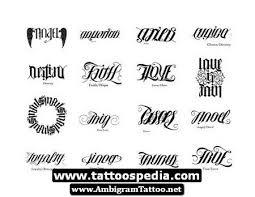 Ambigram Words Tattoo Designs For Men