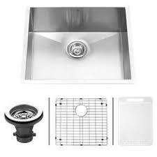 Williamsburg Pedestal Sink Home Depot by Elkay Crosstown Undermount Stainless Steel 24 In Single Bowl