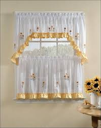 Grey And White Kitchen Curtains Sheer Black Curtain Ideas Cafe