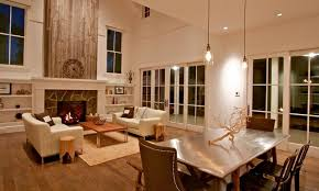 Wood Fireplace Accent Wall