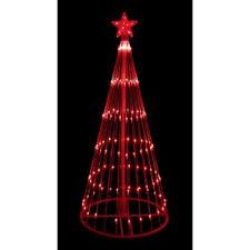 Decorative LED Light Show Cone Christmas Tree Lighted Yard Art