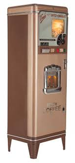 87089 COIN OPERATED VINTAGE COFFEE VENDING MACHINE 20t