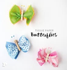 Make Tissue Paper Butterlies