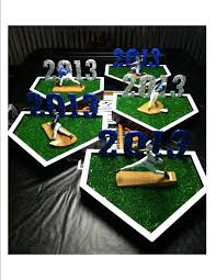 Graduation Table Decorations To Make by Baseball Table Centerpieces I Made For Graduation Party Each