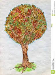 Drawn tree autumn 4