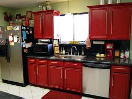 Rustic Red Kitchen Cabinets Large Size Of And