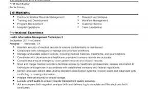 Laboratory Management Resume Examples Unique Professional Health Information Technician Templates To Showcase