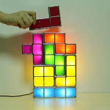 tetris stackable led desk l lightings and ls ideas