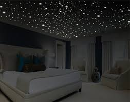 Romantic Bedroom Decor Star Wall Decal Glow In The Dark Stars Gifts Ceiling Removable