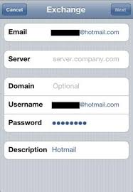 How To Setup Hotmail Using Exchange ActiveSync Your iPhone
