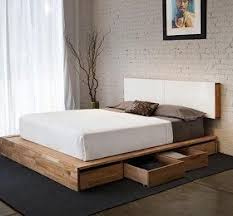 natural wood platform bed decor love
