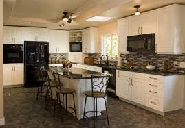 white kitchen cabinets with white appliances white distressed