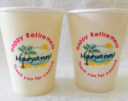 THICK Cups For Woman Retirement Beach Theme