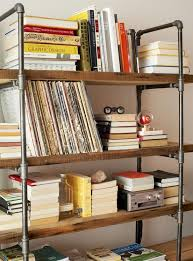 Build Wood Shelving Unit by Best 25 Pipe Bookshelf Ideas On Pinterest Diy Industrial