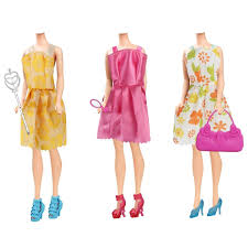 179 Barbie Doll Clothes Dress Accessories For Girls Short Skirt