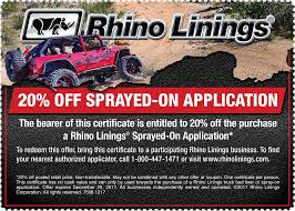 100 Rhino Liner Truck Linings Corporation Bed S SprayOn S And