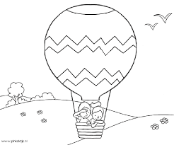 Hot Air Balloon Coloring Pages Free Printable